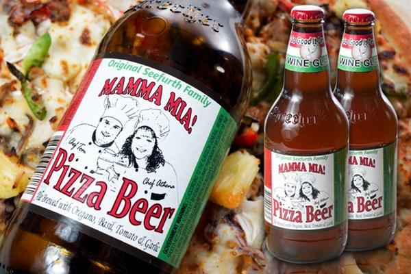 Una cerveza con sabor a pizza. Imagen: Launch Grow Digital